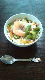 冷や飯で*ひんやりアジアンスープご飯