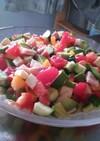 アボカドと夏野菜のカラフルサラダ☆