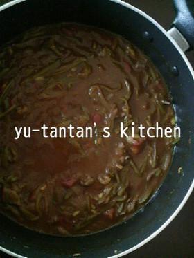 超簡単!ささげ豆とトマトのカレー☆