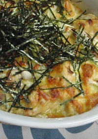 ♡鶏ムネ肉とネギの豆乳味噌グラタン♡