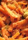 人参と枝豆の胡麻味噌マヨ和え