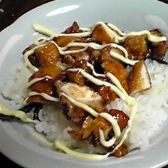 簡単♪鶏むね肉で、照り焼き〜☆