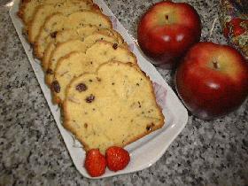 ☆りんごと黒ゴマの簡単パウンドケーキ<レーズン入り>☆