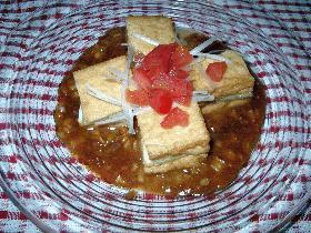 茄子と厚揚げのミルフィーユ ナッツ醤ソース