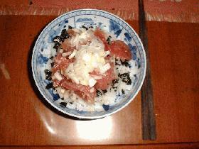 ■マグロの中落ちのヅケ丼■