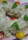 レンジで☆ふわふわ~大きな豆腐かに焼売