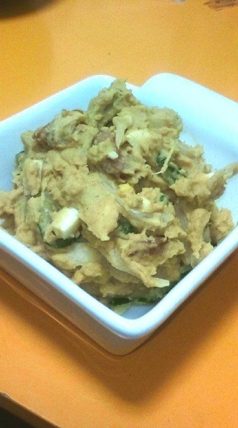 カレー味のポテトサラダ