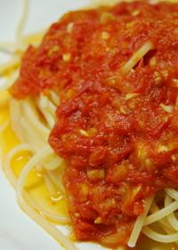 トマトの旨みたっぷりのトマトソースパスタ