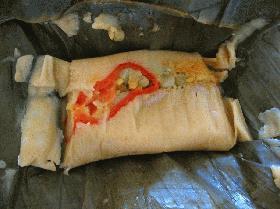 Tamal de Cerdo タマルデセルド 豚肉のタマル(予算約4500コロン)