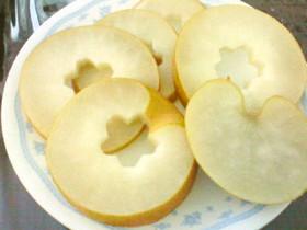 母の不思議な梨林檎の剥き方可愛い飾り切り