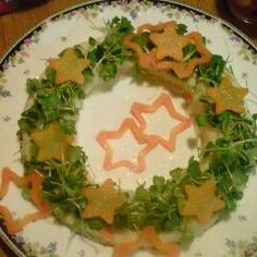 クリスマス、七夕に!星☆リースサラダ
