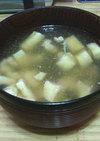 [男の料理] 鶏と油揚げのスープ