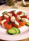 トマトとチーズのバジルソース