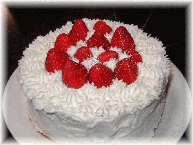 mamakissのイチゴのデコレーションケーキ