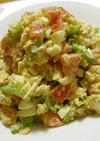 ゴーヤとチキンのカレー風味サラダ