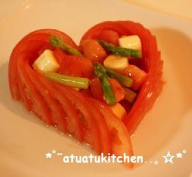 ハートな♡トマトサラダ