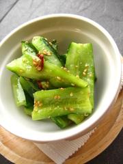 きゅうりの韓国風簡単漬物の写真