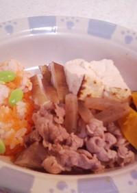 犬ご飯(すき焼き風のご飯)