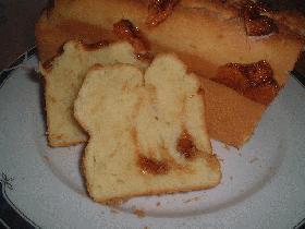 粒キャラメルでパウンドケーキ