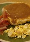 アメリカダイナーの朝食!カリカリベーコン