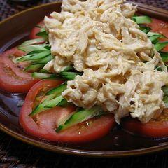 ささみの味噌マヨ バンバンジー(棒々鶏)