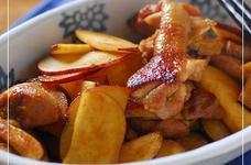 鶏モモ肉とサツマイモのカレー炒め