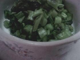 小松菜の即席きり漬け