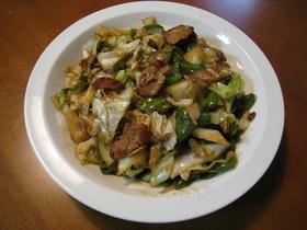 豚こま切れ肉とキャベツとピーマンの回鍋肉
