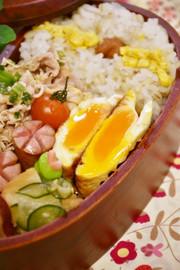 お弁当に!目玉焼きの甘酢煮の写真