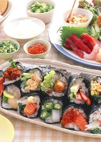 豪華バラエティー手巻き寿司