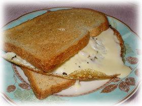 五つ星の朝食☆エッグチーズクリームサンド