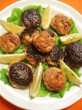 大豆入り海苔と椎茸のミニバーグ