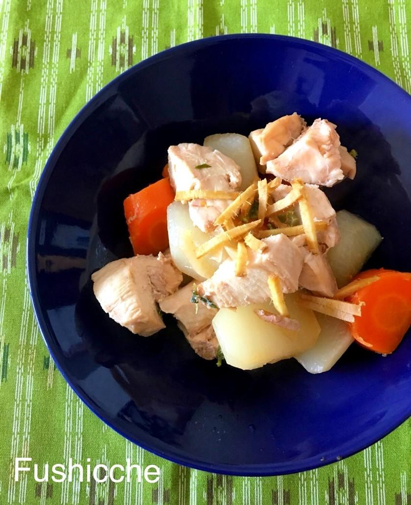 圧力鍋でeco料理★鶏肉と大根の煮物