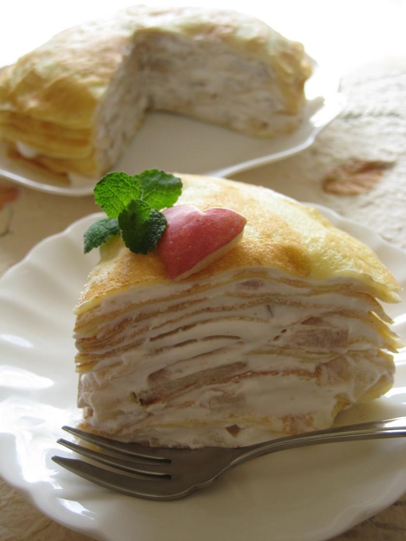 シナモン林檎の米粉ミルクレープ