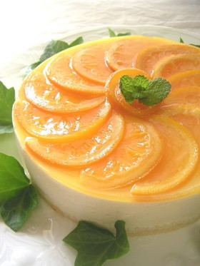 オレンジムースのケーキ