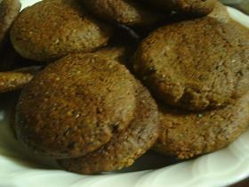 カフェ風!きなこと黒ゴマと黒糖のクッキー