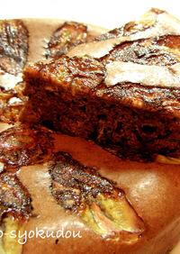 ●炊飯器で☆超簡単チョコバナナケーキ●