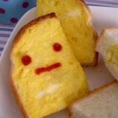 メインもデザートも★卵塗りトースト