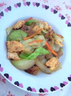 魚醤の旨みたっぷり肉野菜炒め
