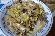 牛肉とモヤシのすき煮