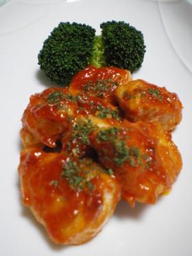 簡単☆イタリアン風ササミのケチャップ焼き