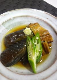 茄子と焼き穴子の煮物