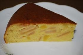 フライパンでスイートポテトアップルケーキ