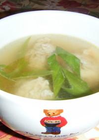 簡単♪とりごぼうすり身のスープ♪