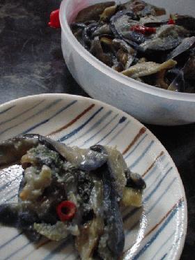茄子の生姜味噌炒め