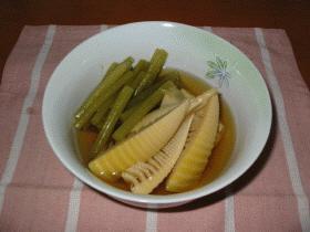 蕗と筍の薄味煮