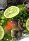 赤魚の粕漬とマッシュルームのホイル焼き