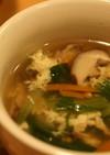 必殺!色んな食感☆チンゲンサイ中華スープ