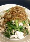 九条ネギとササミの中華サラダ