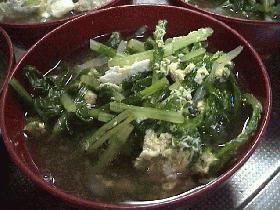 大根菜のスープ